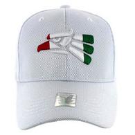 VM013 Hecho En Mexico Whole Mesh Velcro Cap (Solid White)