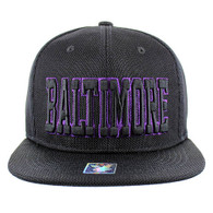 SM013 Baltimore Whole Mesh Snapback (Solid Black)