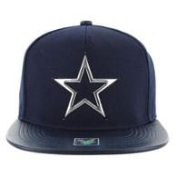 SM763 Star Snapback Cap Hat (Navy & Navy)