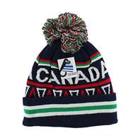 WB072 Native Pride Canada Pom Pom Beanie (Black)