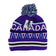 WB072 Native Pride Canada Pom Pom Beanie (Purple