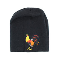 WB050 Cock Short Beanie (Solid Black)