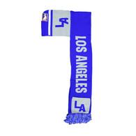 WS030 Los Angeles Hoodie Scarf (Royal & Light Grey)