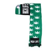 WS030 High Life Marijuana Hoodie Scarf (Kelly Green & Black)
