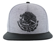 SM642 Mexico Snapback Cap (Grey & Black)