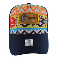 VM001 Native Pride Velcro Cap (Solid Navy)