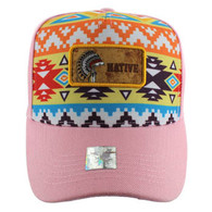 VM001 Native Pride Velcro Cap (Solid Light Pink)