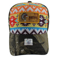 VM001 Native Pride Velcro Cap (Solid Hunting Camo)