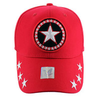 VM002 Big Star Baseball Cap (Solid Red)