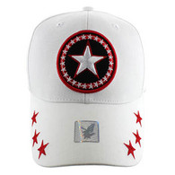 VM002 Big Star Baseball Cap (Solid White)
