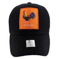 VM100 Loteria Cards El Gallo Baseball Cap Hat  (Solid Hunting Camo)