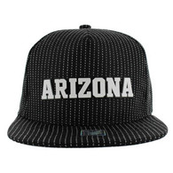 SM007 Arizona Cotton Snapback Cap Hat (Black & Black)