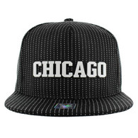 SM007 Chicago Snapback Cap (Black & Military Camo)