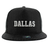 SM007 Dallas Snapback Cap (Black & Black)