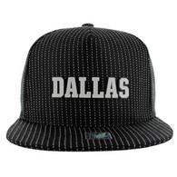 SM007 Dallas Snapback Cap (Black & Black)