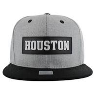 SM007 Houston City Snapback (Grey & Black)