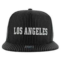SM007  Los Angeles Snapback Trucker Mesh Cap (Black & Black)