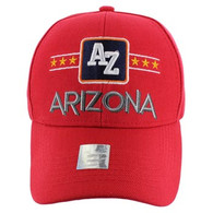 VM068 Arizona Baseball Cap Hat (Solid Red)
