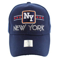 VM068 New York Baseball Cap Hat  (Solid Navy)