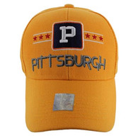 VM068 Pittsburgh Baseball Cap Hat (Solid Gold)
