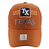 VM068 Texas Baseball Cap Hat (Solid Texas Orange)