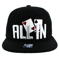 SM076 ALL IN Snapback (Solid Black)