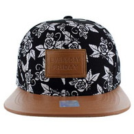 SM051 Everyday Friday Snapback (Black & Brown)