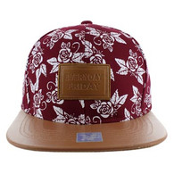 SM051 Everyday Friday Snapback (Burgundy & Brown)
