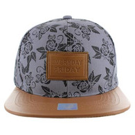 SM051 Everyday Friday Snapback (Grey & Brown)