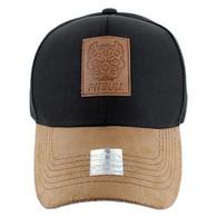 VM569 Pitbull Baseball Hat (Black & Brown)