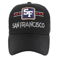 VM068 San Francisco Baseball Cap (Solid Black)