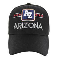 VM068 Arizona Baseball Cap Hat (Solid Black)