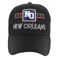 VM068 New Orleans Velcro Cap (Solid Black)