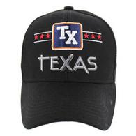 VM068 Texas Baseball Cap Hat (Solid Black)