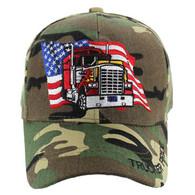 VM304 American USA Truck Velcro Cap (Solid Military Camo)