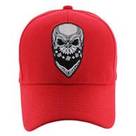 VM587 Skull Velcro Cap (Solid Red)