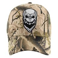VM587 Skull Velcro Cap (Solid Hunting Camo)