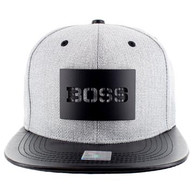 SM007 BOSS Snapback (Grey & Black) - Black Metal