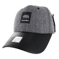 VM859 California Bear Baseball Cap (Charcaol & Black)