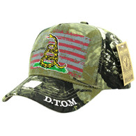 VM023 Don't Thread on Me Velcro Cap (Solid Hunting Camo)