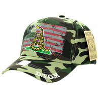 VM023 Don't Thread on Me Velcro Cap (Solid Military Camo)
