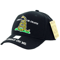VM023 Liberty or Death Velcro Cap (Solid Black)