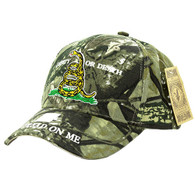 VM023 Liberty or Death Velcro Cap (Solid Hunting Camo)
