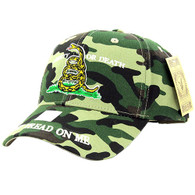 VM023 Liberty or Death Velcro Cap (Solid Military Camo)