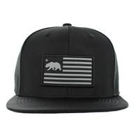 SM1001 California Republic Snapback (Solid Black)