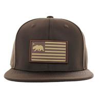 SM1001 California Republic Snapback (Solid Brown)