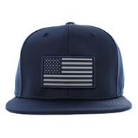 SM100 USA Flag Snapback Cap (Solid Navy)