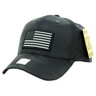 VM100 USA Flag Snapback Cap (Solid Black)