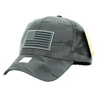 VM100 USA Flag Snapback Cap (Solid Dark Grey)