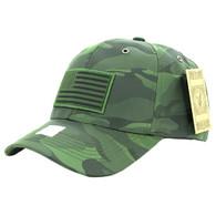 VM100 USA Flag Snapback Cap (Solid Olive)